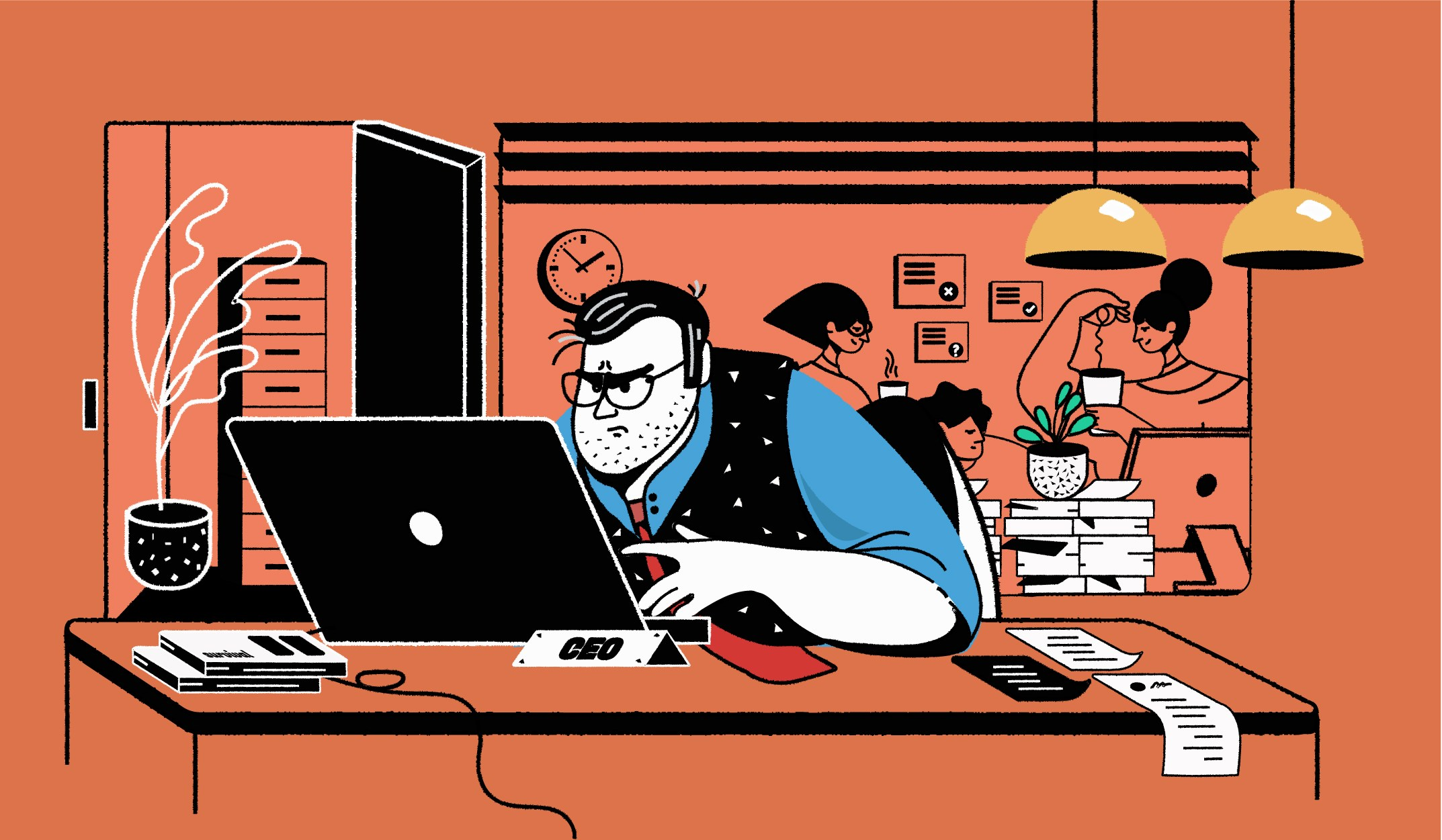 Bosses without offices: CEOs ditch private spaces for their return to the workplace