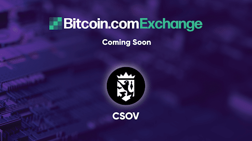 Quantum-Resistant Token, Crown Sovereign (CSOV) Will Be Listed on Bitcoin.com Exchange
